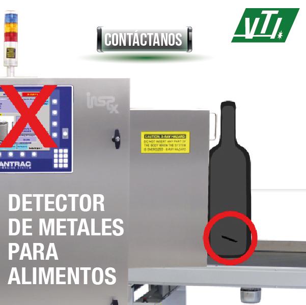 detector de metal para alimentos