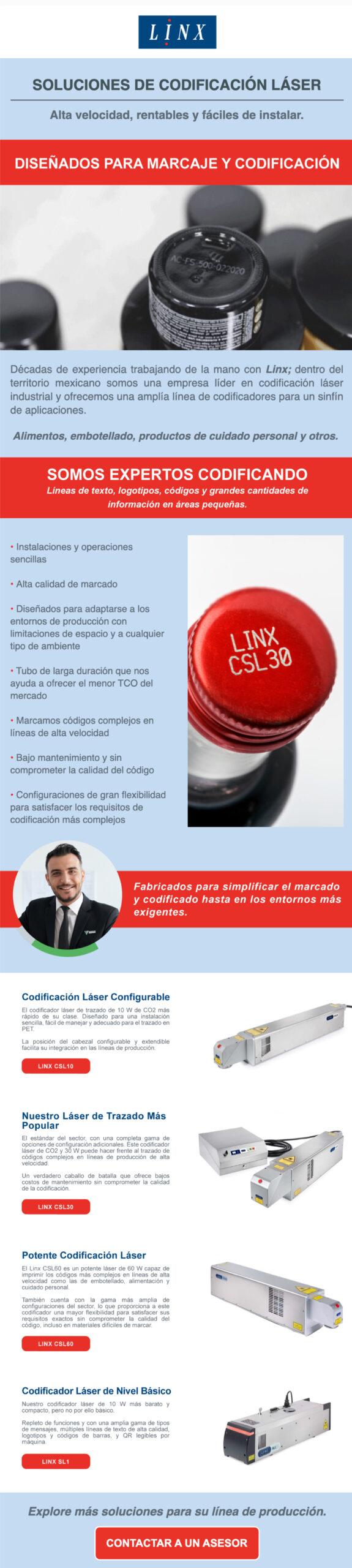 Codificadores láser Linx